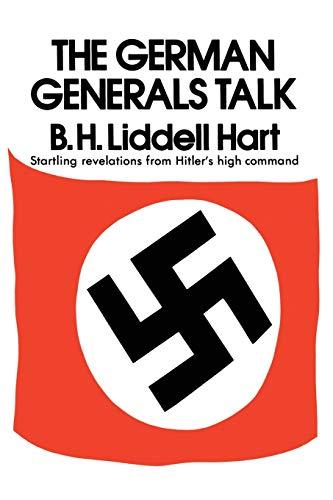 9780688060121: German Generals Talk