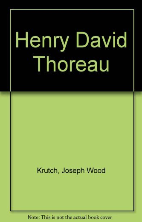 9780688067748: Henry David Thoreau
