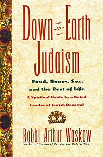 9780688151270: Down-To-Earth Judaism: Food, Money, Sex, and the Rest of Life