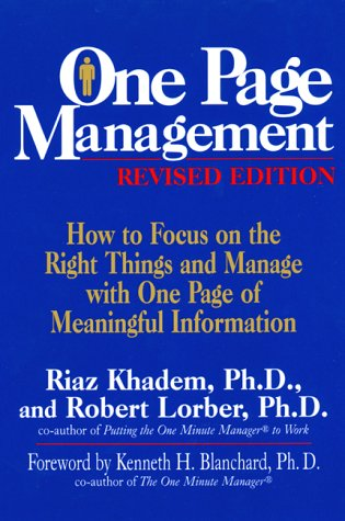 one page management success through access how to get the key facts you need to get the job done