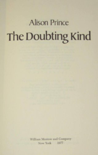 9780688221263: The doubting kind