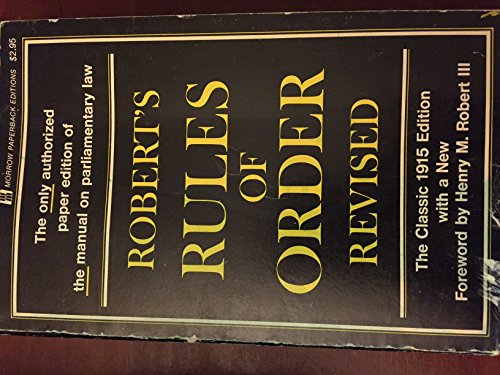 9780688313746: Robert's rules of order: Revised