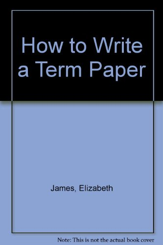 9780688419516: How to Write a Term Paper