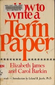 9780688450250: How to Write a Term Paper