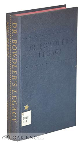 9780689102226: Dr.Bowdler's Legacy:A History of Expurgated Books in England and America