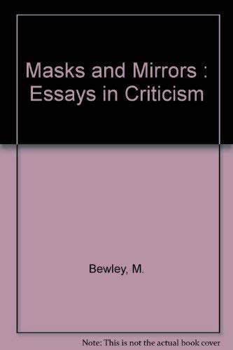 9780689103087: Masks and Mirrors: Essays in Criticism.
