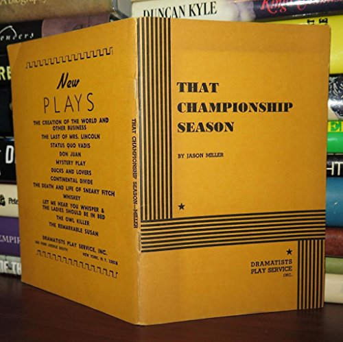 9780689105388: That Championship Season