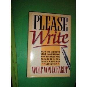 9780689118234: Please Write