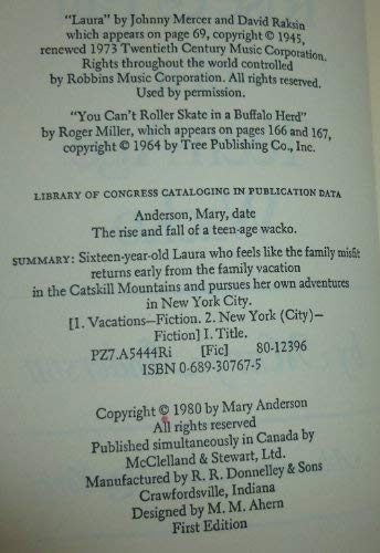 The Rise and Fall of a Teen-Age: Mary Anderson