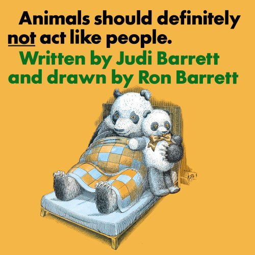 9780689307683: Animals Should Definitely Not Act Like People (Animals Should Not ACT Peopl Nr)