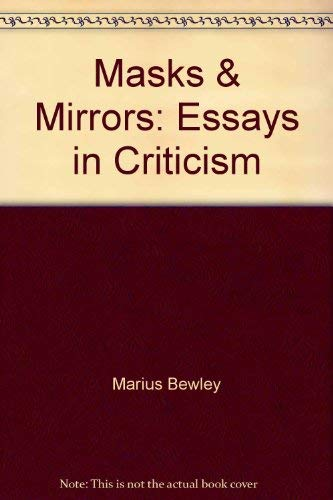 9780689705120: Masks and Mirrors: Essays in Criticism.