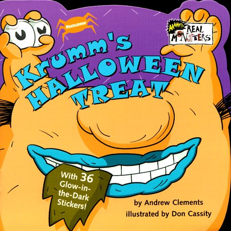 9780689820533: Krumm's Halloween Treat: Glow-in-the-Dark Sticker Book (Real Monsters)