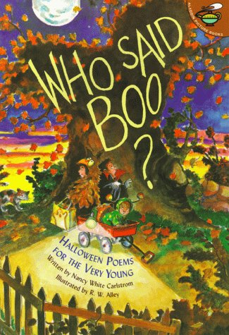 9780689831515: Who Said Boo?: Halloween Poems for the Very Young