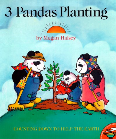 9780689833038: Three Pandas Planting (Aladdin Picture Books)