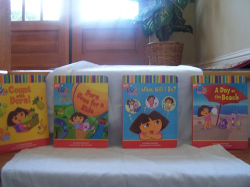 9780689871511: Dora the Explorer: Dora's Box of Books (A Day at the Beach, Dora's Opposites, Count With Dora, A Surprise Party) (English and Spanish Edition)