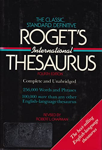 Roget's International Thesaurus (Harper Colophon Books): robert chapman