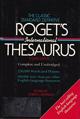 ISBN 9780690000108 product image for Roget's International Thesaurus (Harper Colophon Books) | upcitemdb.com