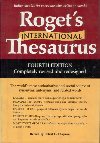 Roget's International Thesaurus (Harper Colophon Books): Peter Mark Roget
