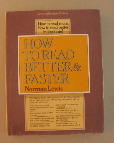 9780690015287: How to Read Better and Faster
