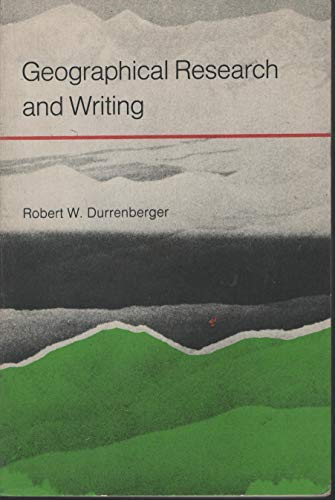 9780690323016: Geographical research and writing