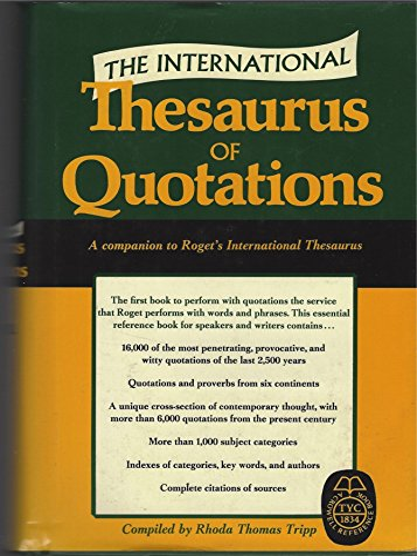 9780690445855: International Thesaurus of Quotations
