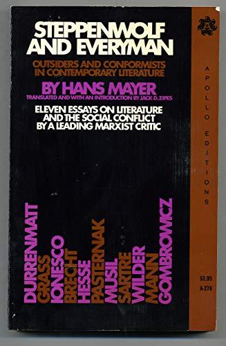 Steppenwolf and Everyman: Hans Mayer