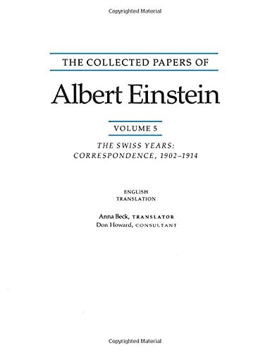9780691000992: The Collected Papers of Albert Einstein, Volume 5 (English): The Swiss Years: Correspondence, 1902-1914. (English translation supplement)