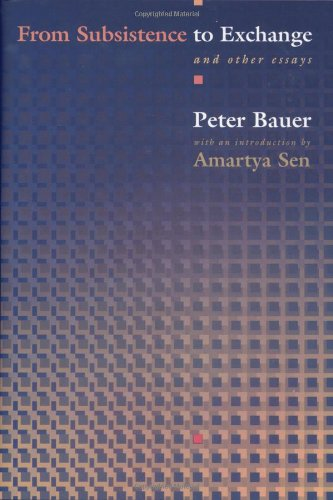 9780691006673: From Subsistence to Exchange and Other Essays (New Forum Books)