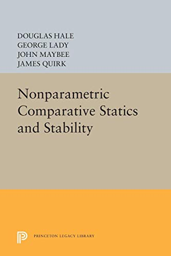 Nonparametric Comparative Statics and Stability: Douglas Hale; James