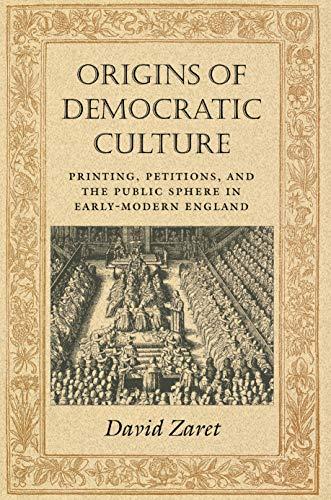 Origins of Democratic Culture: David Zaret