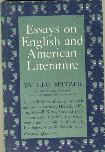 9780691012612: Essays on English and American Literature