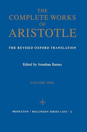 9780691016504: Complete Works of Aristotle, Vol. 1