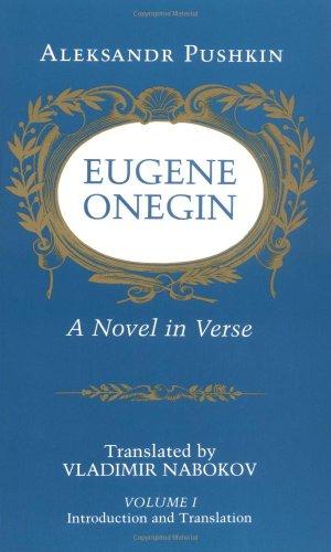 9780691019055: Eugene Onegin: A Novel in Verse: Text: Text v. 1 (Bollingen Series (General))