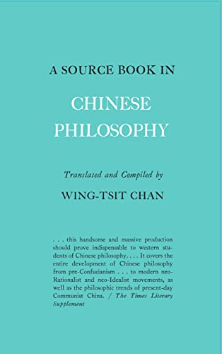 9780691019642: A Source Book in Chinese Philosophy (Princeton Paperbacks)