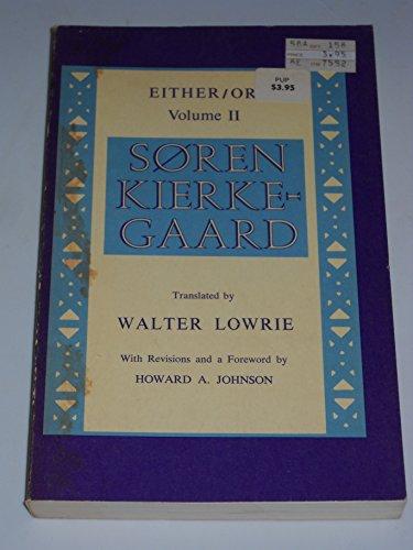 Either/Or (Volume II): Soren Kierkegaard
