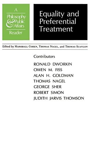 Equality and Preferential Treatment - Thomas Nagel; Thomas Scanlon