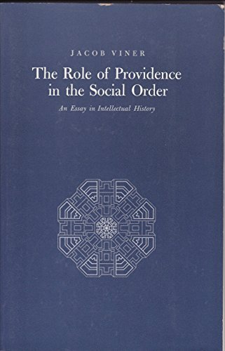 9780691019901: The Role of Providence in the Social Order: An Essay in Intellectual History