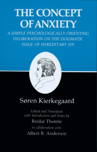 9780691020112: The Concept of Anxiety: A Simple Psychologically Orienting Deliberation on the Dogmatic Issue of Hereditary Sin (Kierkegaard's Writings, VIII) (v. 8)