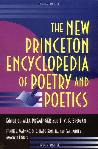 9780691021232: The New Princeton Encyclopedia of Poetry and Poetics