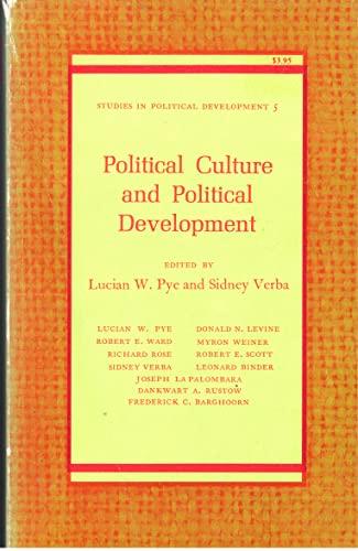 9780691021614: Political Culture and Political Development (Studies in Political Development)