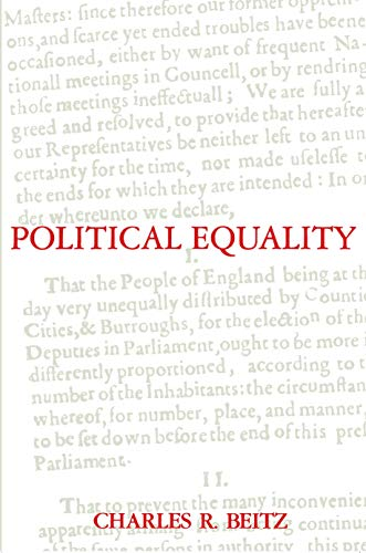 9780691022710: Political Equality: An Essay in Democratic Theory