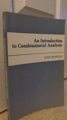 An Introduction to Combinatorial Analysis (Princeton Legacy: John Riordan