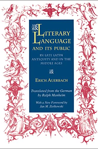 9780691024684: Literary Language and Its Public in Late Latin Antiquity and in the Middle Ages