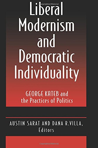 9780691025957: Liberal Modernism and Democratic Individuality: George Kateb and the Practices of Politics