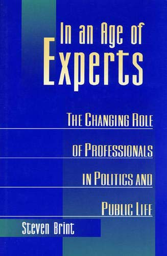 9780691033990: In an Age of Experts