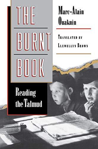 The Burnt Book (0691037299) by Marc-Alain Ouaknin