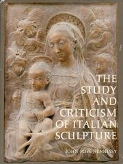 9780691039671: The Study and Criticism of Italian Sculpture