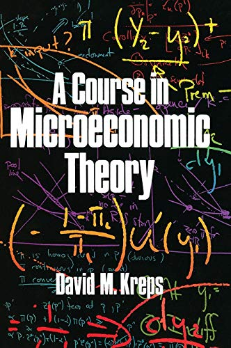 9780691042640: A Course in Microeconomic Theory