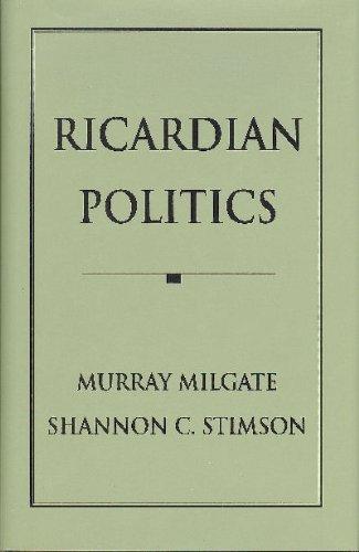 9780691042787: Ricardian Politics (Princeton Legacy Library)