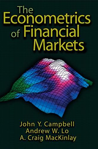 9780691043012: The Econometrics of Financial Markets